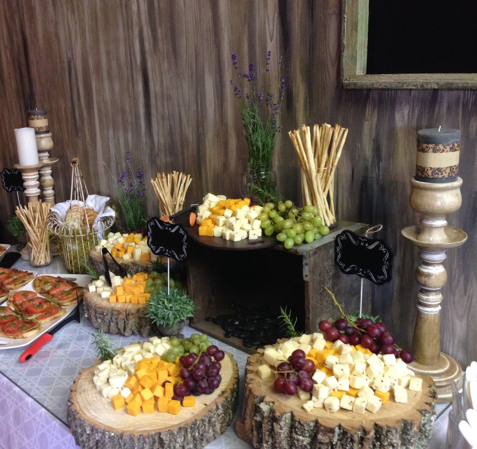 Wedding Food Tables: Appetizer Table For A Small Wedding Reception