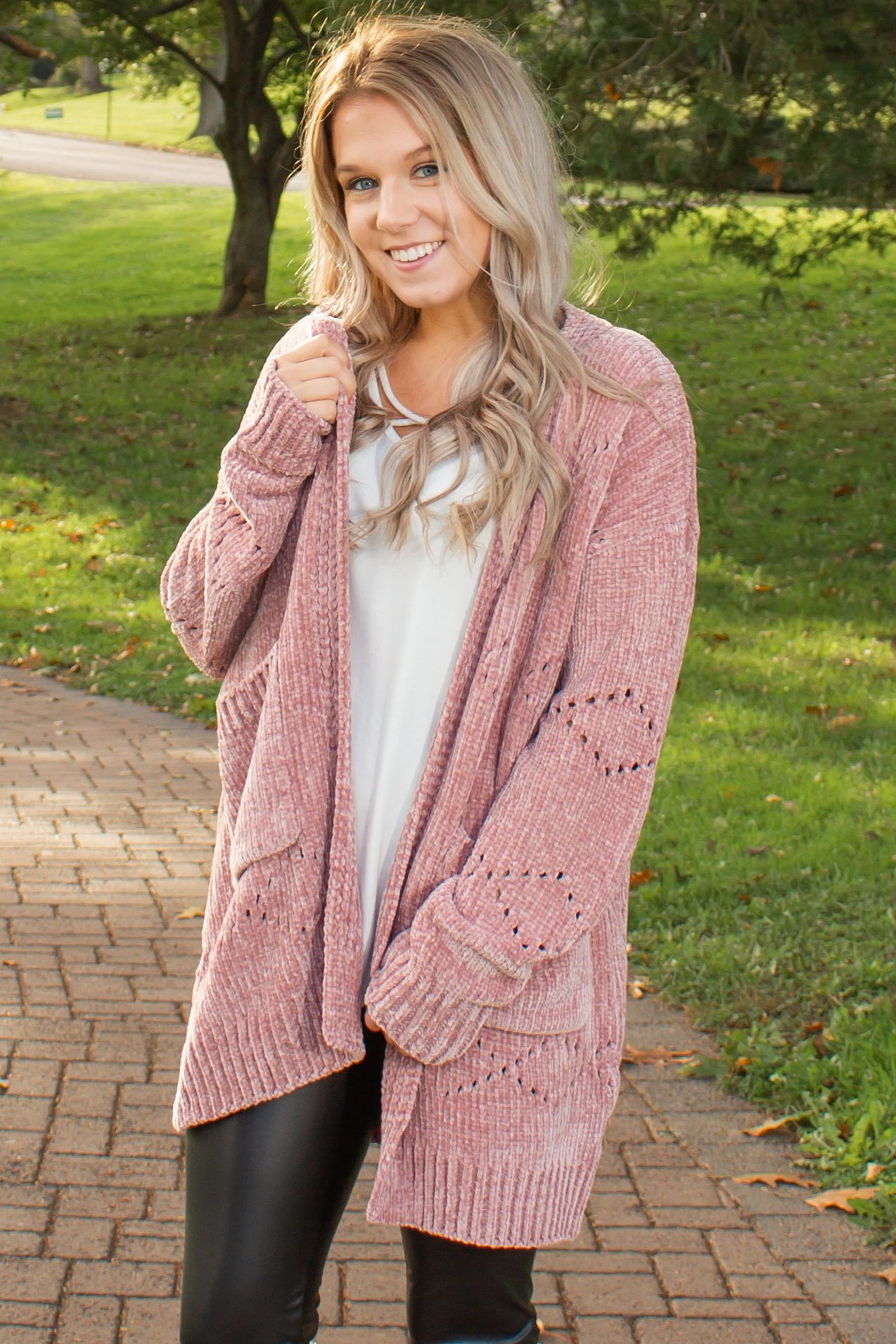 Super Snuggly Chenille Cardigan (Blush)  eae561eb3