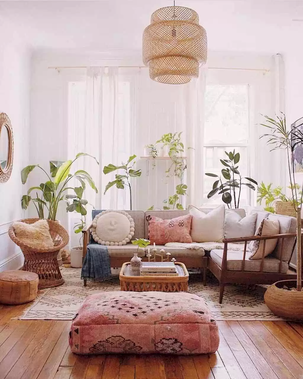 42 cozy bohemian living room decor ideas #bohemian