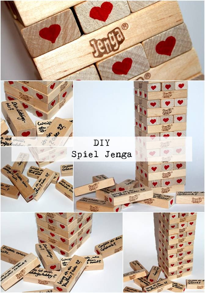 diy jenga spiel diycarinchen geschenke geschenkideen pinterest jahrestag geschenke. Black Bedroom Furniture Sets. Home Design Ideas