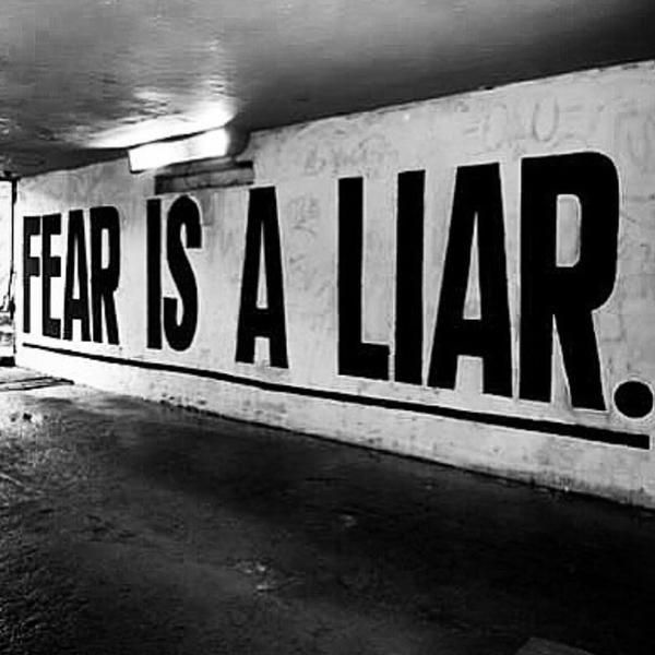 """'Why are you afraid to talk to your heart?"""" asked the alchemist. """"Fear is a liar!"""""""