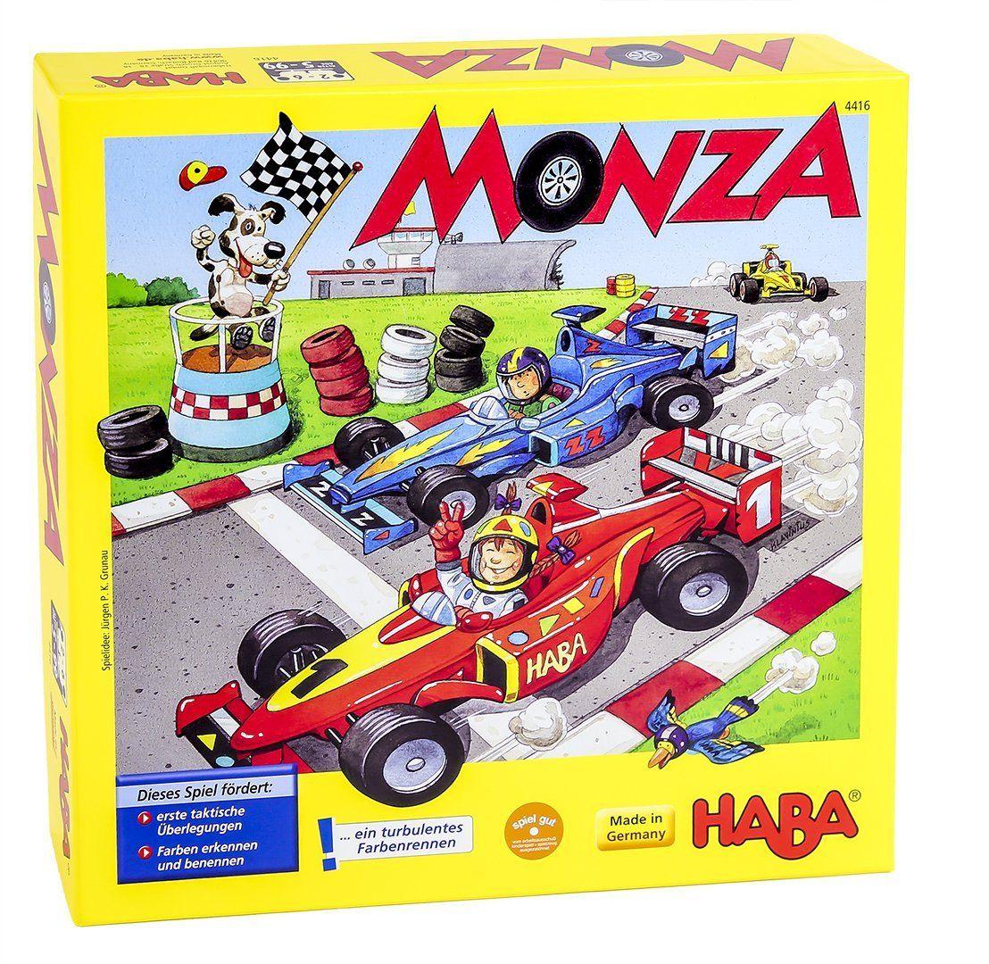 Haba 4416 Monza Juego De Mesa Con Dados Y Vehiculos Haba Amazon