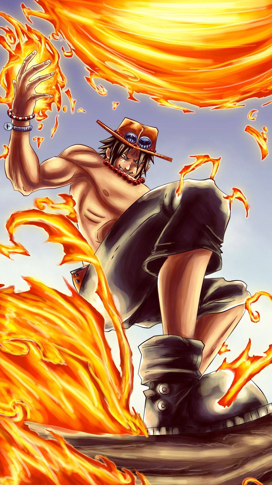 portgas d ace one piece mobile wallpaper 9609 one piece