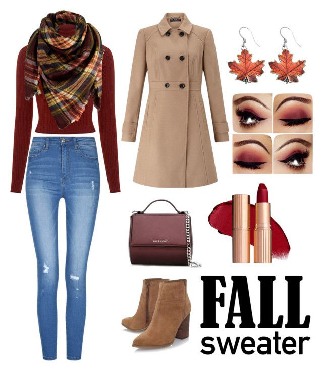 """""""fall sweater🍁"""" by iceeyes89 ❤ liked on Polyvore featuring Nine West, A.L.C., Peach Couture, Givenchy and Miss Selfridge"""