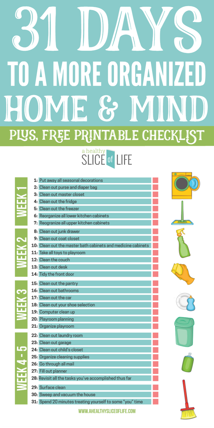 College Supply Checklist: 31 Days To A More Organized Home & Mind