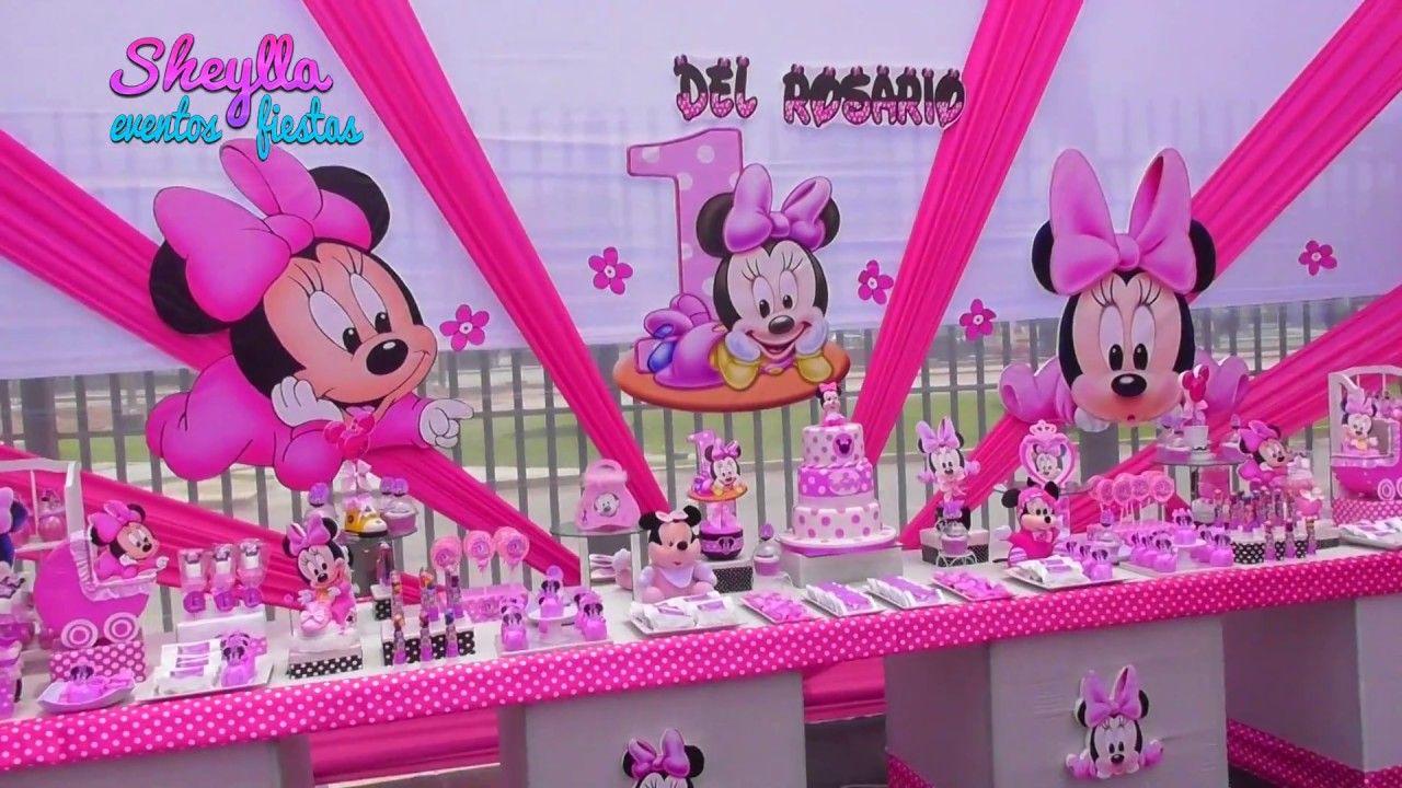 Toldo De Minnie Mouse Bebe Decoración Mesa Temática Fiesta Infantil Decoracion Minnie Bebe Decoración De Fiestas Infantiles Minnie Coqueta