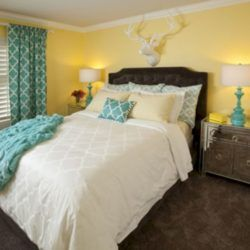 55+ Visually Pleasant Yellow Grey Bedroom Designs Ideas images
