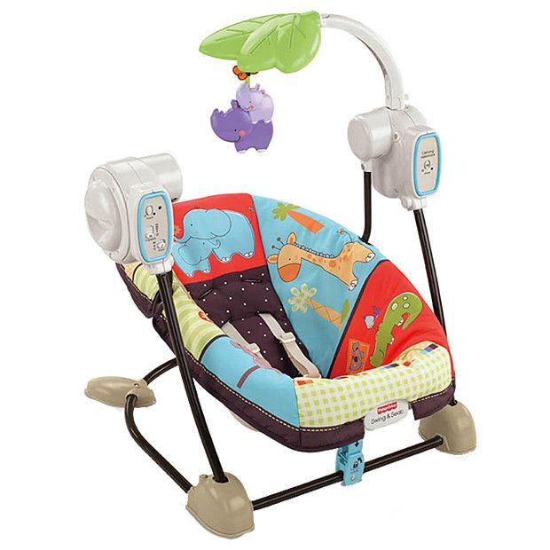 Fisher Price Luv U Zoo Space Saver Swing And Seat Baby