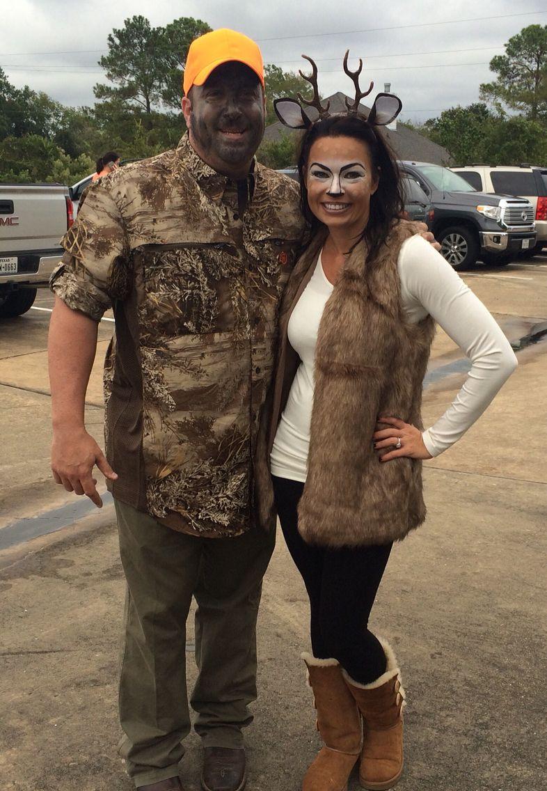 Diy Hunter Deer Costume Maskerix Com Deer Halloween Costumes Halloween Costume Outfits Couples Costumes