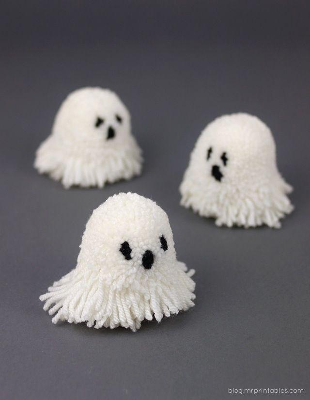 Let S Make Halloween Pompoms Iurban In Th Pom Pom Crafts Halloween Kids Halloween Crafts For Kids