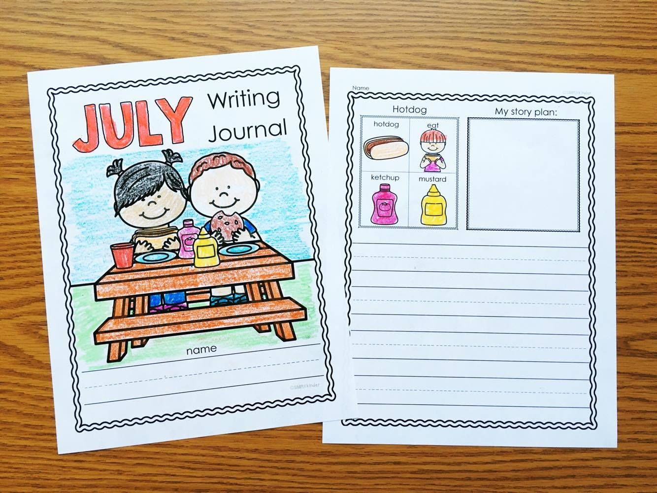 July Writing Journals