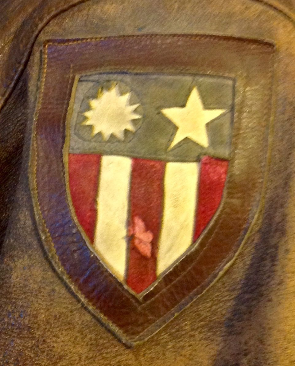 A2 flight jacket with China Burma India theatre patch (S