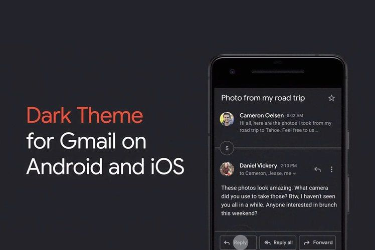 How to turn on Gmail's new dark mode Android, Dark, My