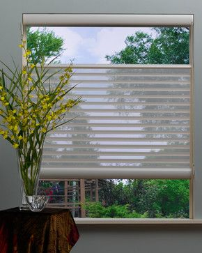 Top Down Bottom Up Silhouette With Easyrise Modern Window Blinds Other Metro Complete Blinds Blinds Blinds For Windows Vertical Blinds