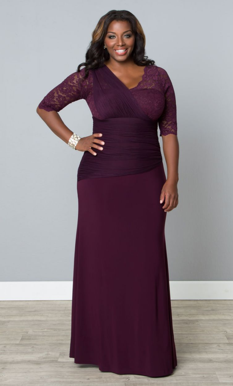 Plus Size Soiree Evening Gown - Imperial Plum Curvalicious Clothes ...
