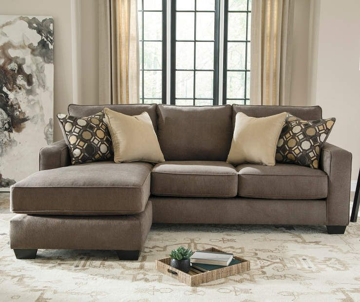 Keenum Taupe Sofa With Reversible Chaise Big Lots Taupe Sofa