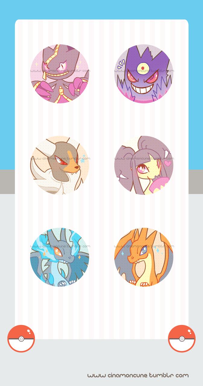 Mega Evolution Buttons by Cuney