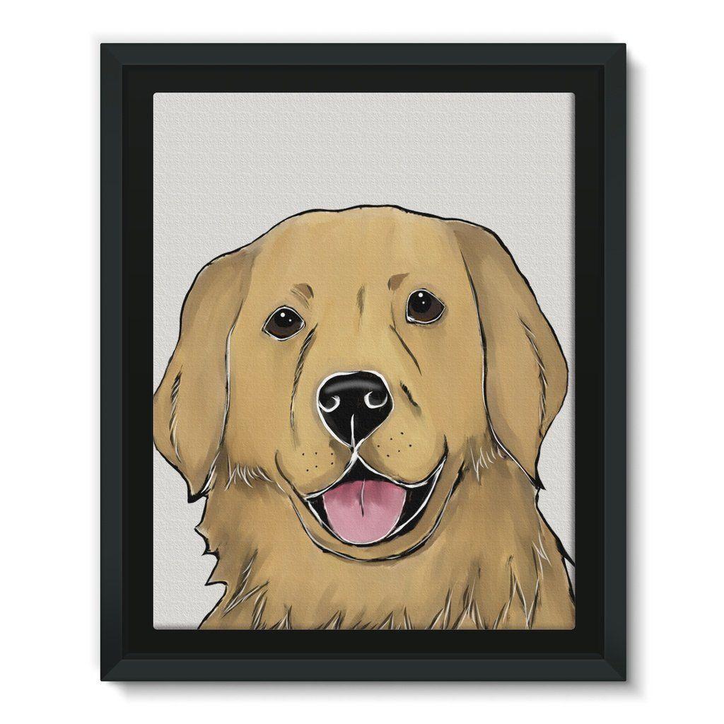 Framed Ecocanvas Goldenretriever Golden Retriever Canvas Frame Canvas Frame