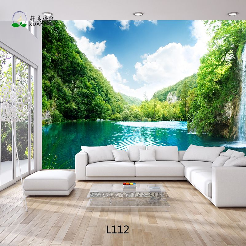 Living room perfect 3d wallpaper for living room design for Nature room wallpaper