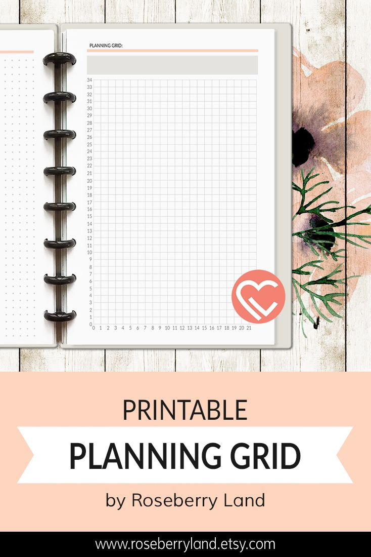 photo relating to Discbound Planner Pages Printable called Printable Coming up with Grid Electronic Planner Webpage Instantaneous