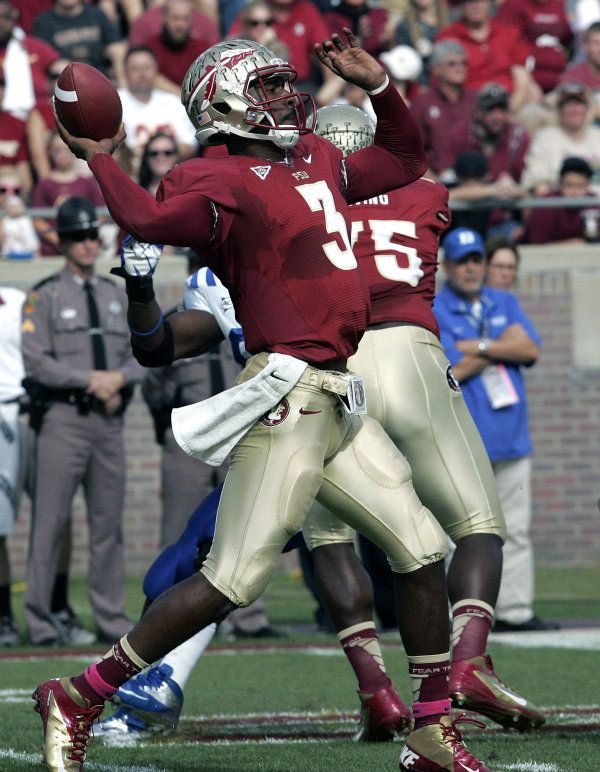 Florida State S Ej Manuel Throws To Rashad Greene For A Touchdown