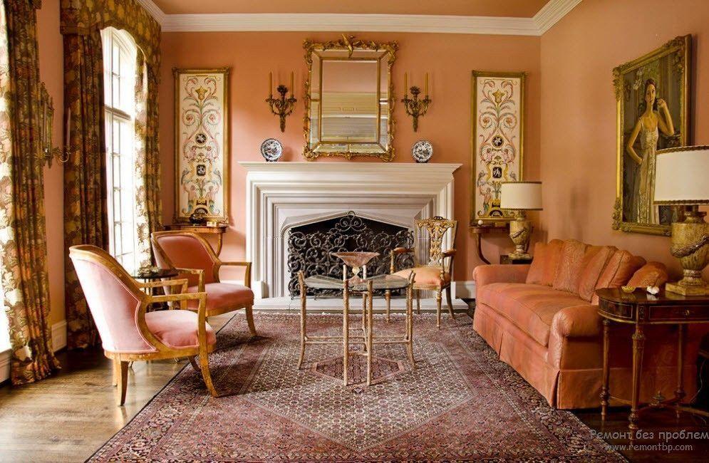 Peach Color Paint Living Room Peach Color Interior Design ...