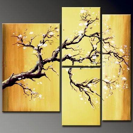 4 piece wall art   Artists that inspire   Pinterest   Painted wall ...