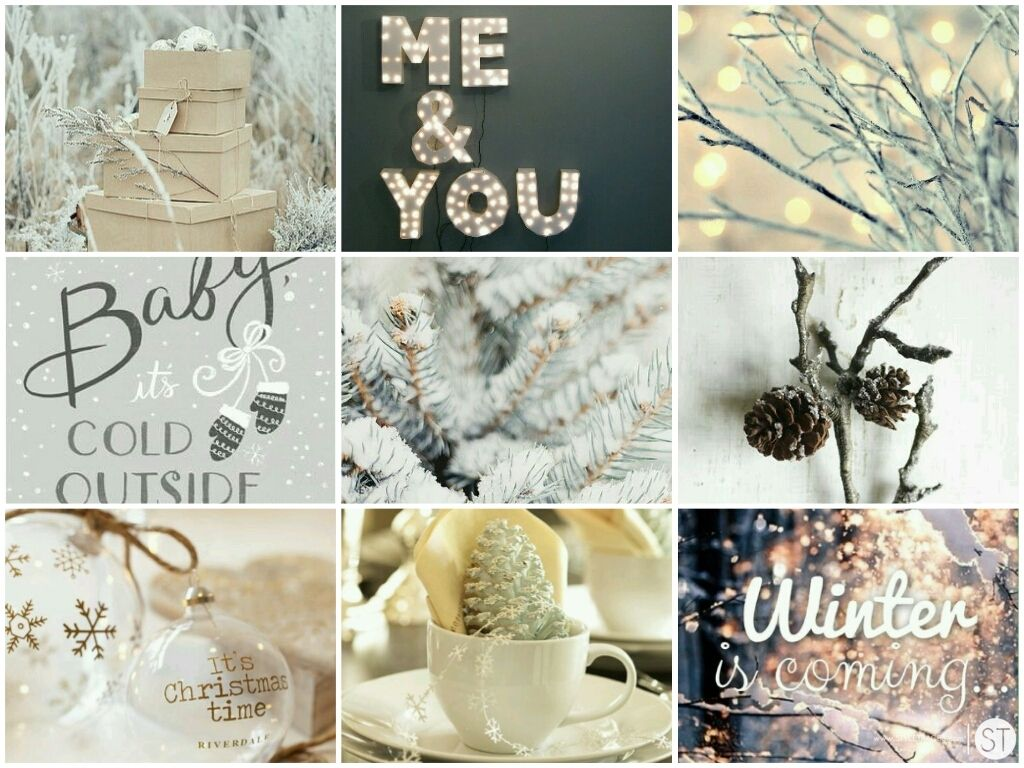 December Mood Board Pinterest