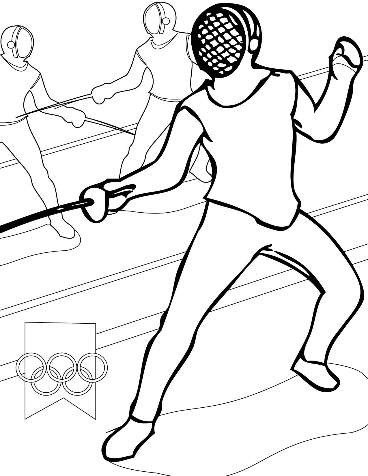 Fencing Sports Coloring Pages Fence Fence Art