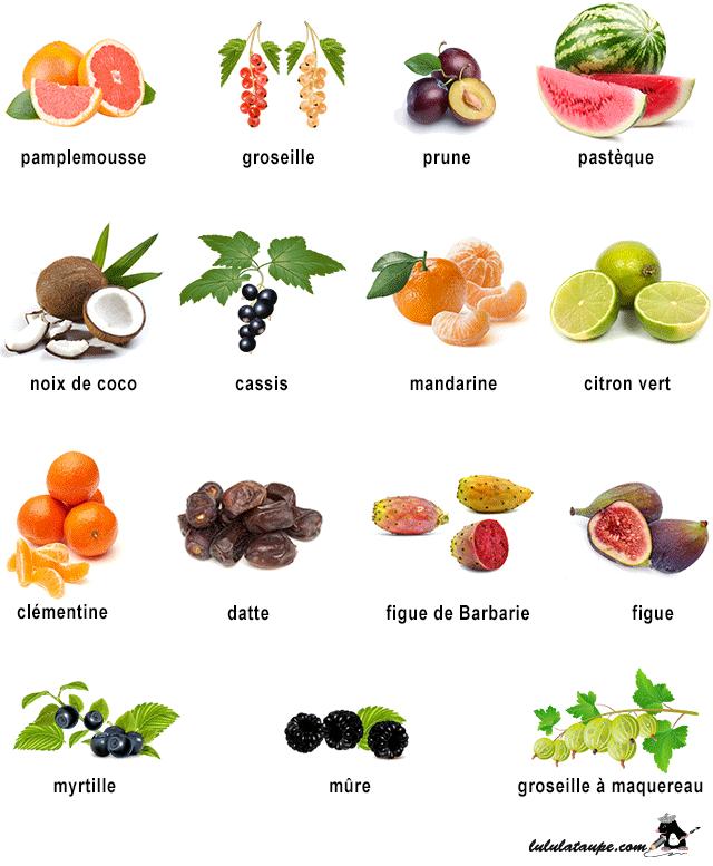Imagier imprimer les fruits plus fruits et l gumes - Fruit ou legume en i ...