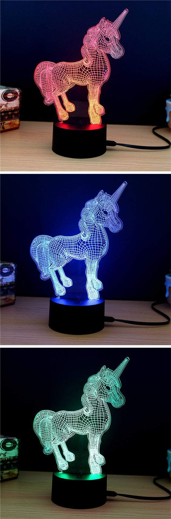 MSparkling TD Creative Animal D LED Lamp in Unicorns