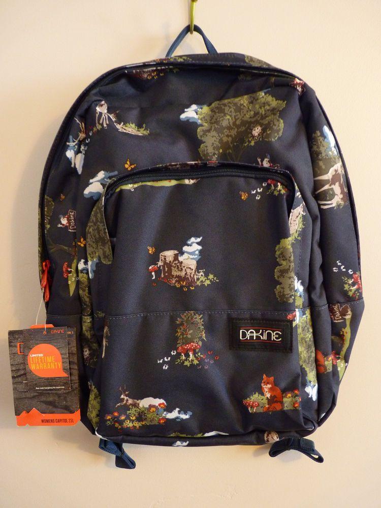 9e5aa7308717 Dakine Sherwood Capitol Backpack Forest Deer Jackalope Mushroom Gnome Fox  Owl  Dakine  Backpack