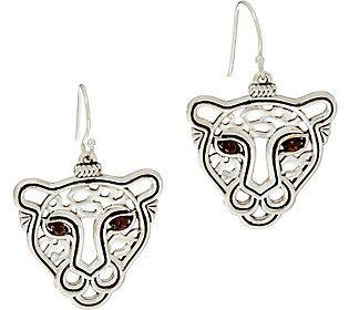 JAI Sterling Silver Leopard Drop Earrings