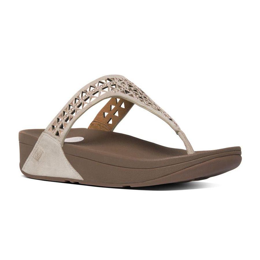 684495c66fe1c0 Carmel toe post slipper dames beige brons fitflop