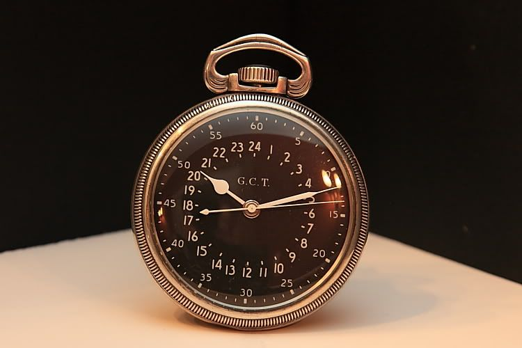 Hamilton 4992B Military pocket watch with 24 hour dial.