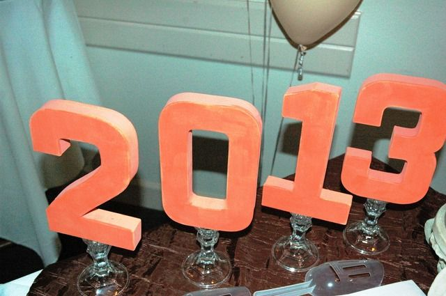 Shabby Chic Colors For 2015 : Shabby chic with a coral chevron twist graduation end of school