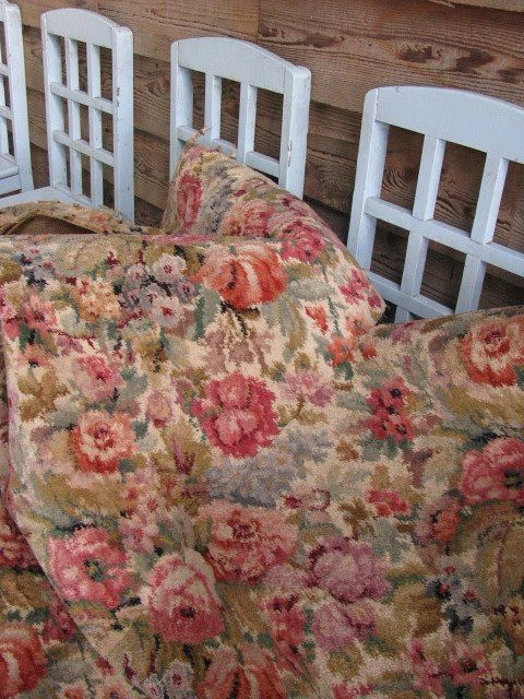 Vintage Floral Carpet To Replace The Worn Out One In The