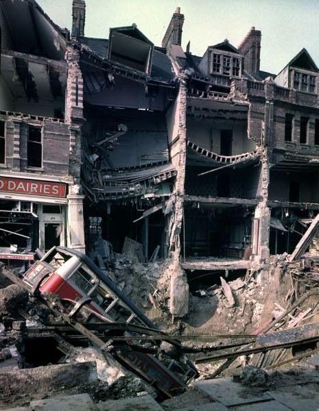 London Blitz photos. WW2