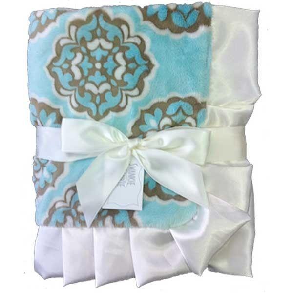 Azure Receiving Blanket Swankie Blankie