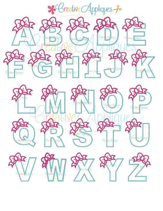 Bow alphabet letter set a z applique machine by creativeapplique bow alphabet letter set a z applique machine by creativeapplique spiritdancerdesigns Gallery