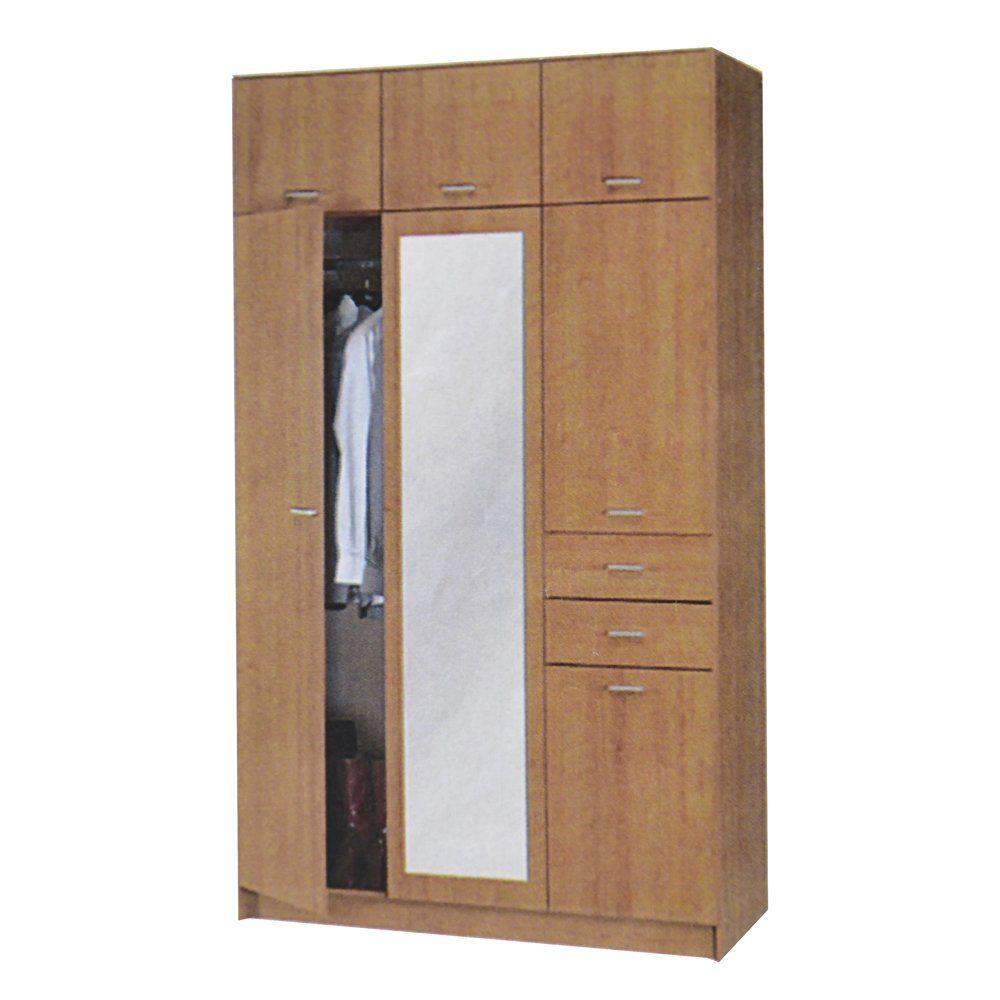Armadio mobile specchiera guardaroba cassetti for Arredo casa amazon