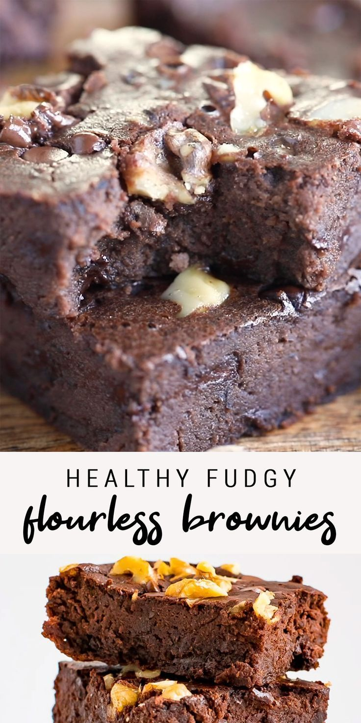 Fudgy Maple Flourless Black Bean Brownies