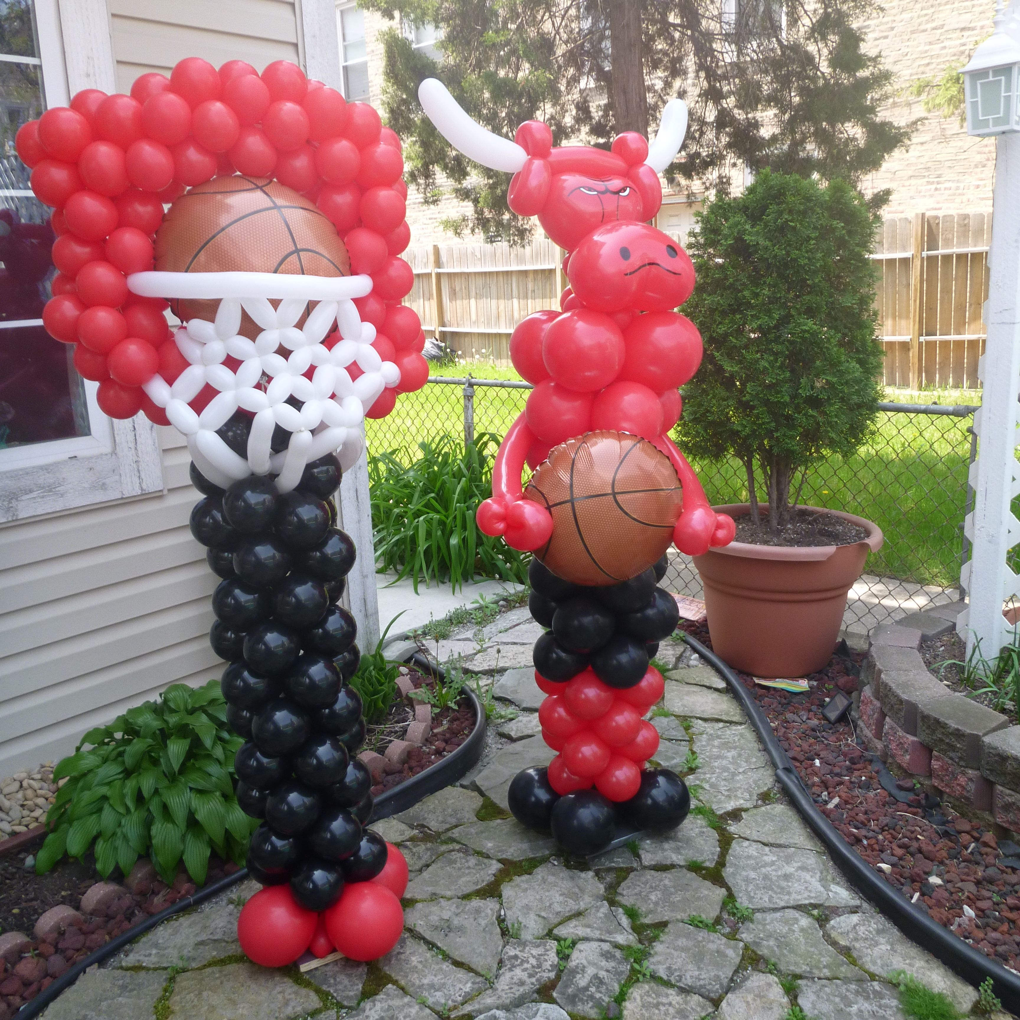 Chicago Bulls Balloon Decoration Basketball Birthday Parties 3rd