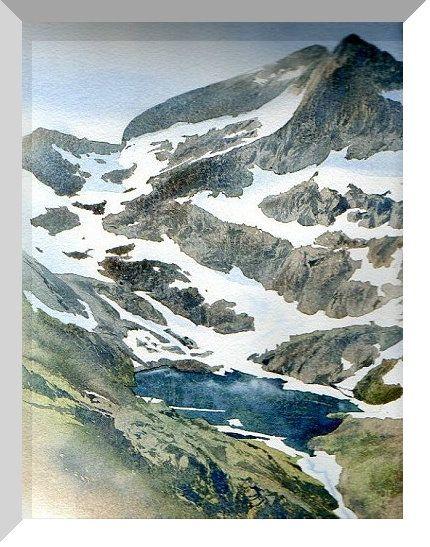 Lac Pyrenees Aquarelle Philippe Lhez Paysage Aquarelle Paysage