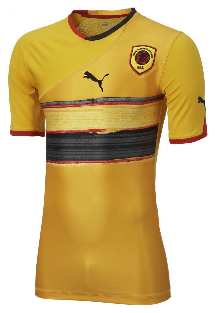 Angola (Federação Angolana de Futebol) - 2010 Africa Cup of Nations Puma  Away Shirt 36142e4efbeb5