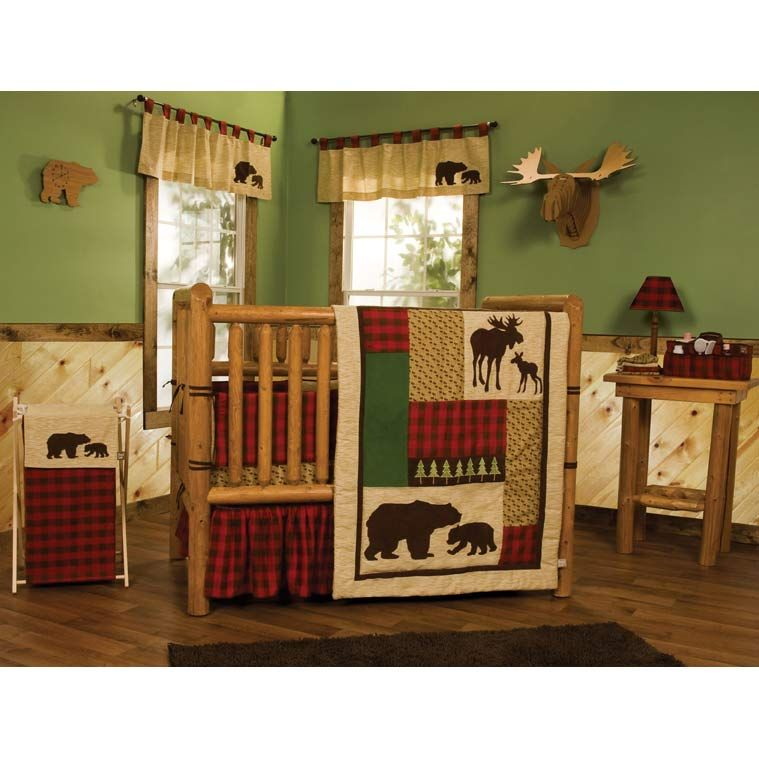 Rustic Cabin Crib Bedding 3 Piece Set: Baby Rag Quilt, Kids Room Decor, Baby Boutique | Quilts Just 4 Kids