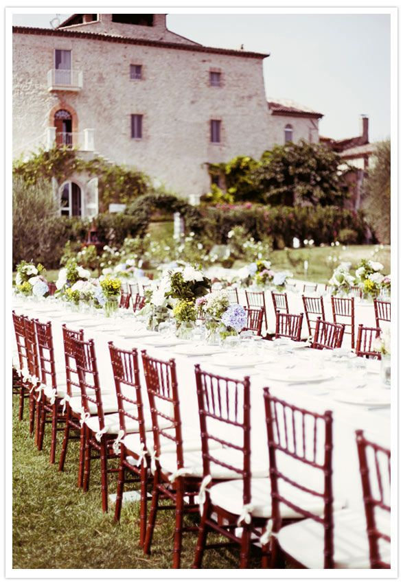 lunch wedding in Italy   via 100 LayerCake
