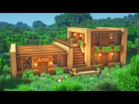 Minecraft: How to Build a Wooden House | Simple Survival House Tutorial
