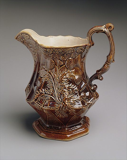 Pitcher American Pottery Manufacturing Company 1833 Ca 1854 Pottery Vintage American Art Pottery Art