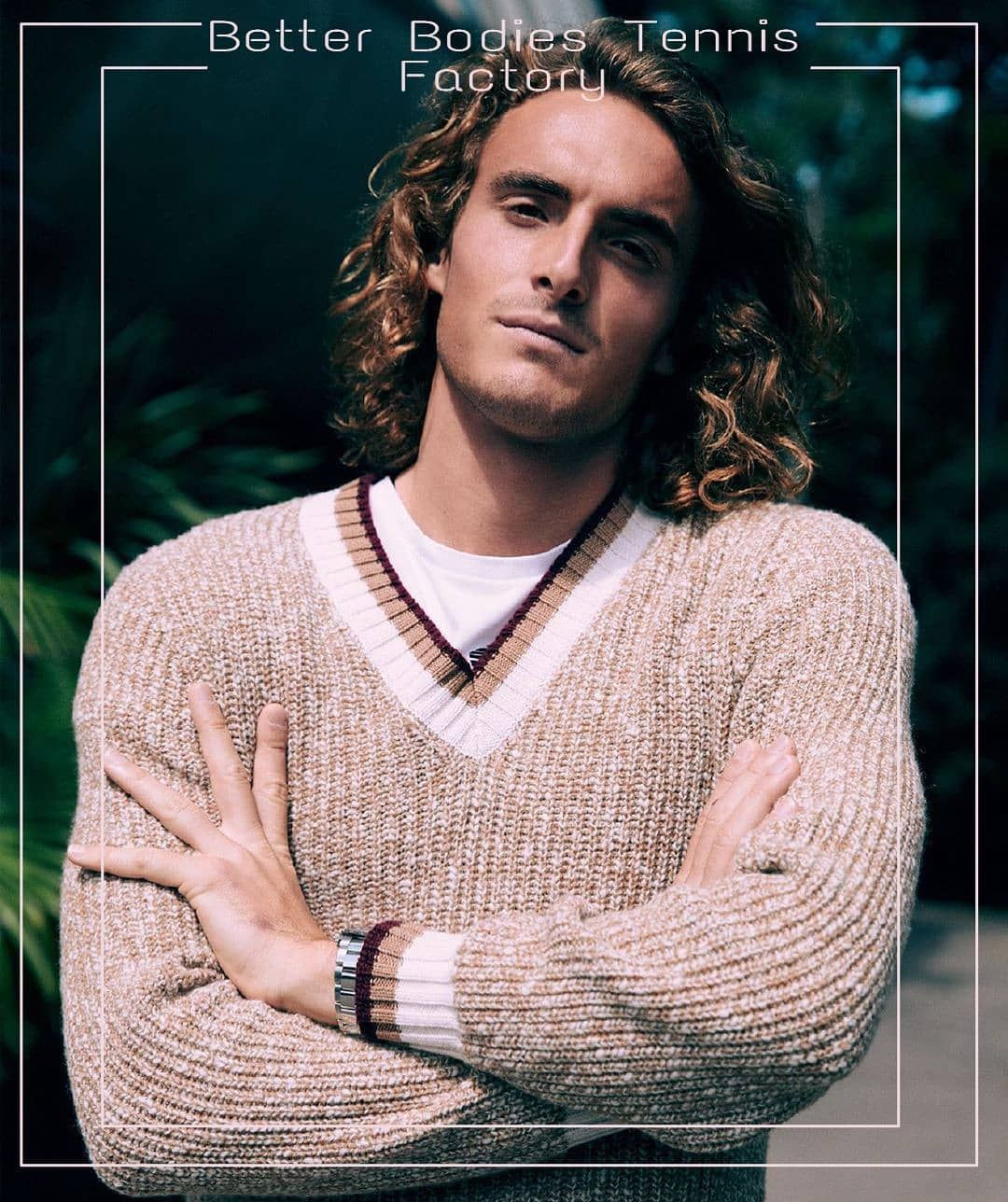 Stefanos Tsitsipas Cover Of Gq Magazine Gq Magazine Gq Men Sweater